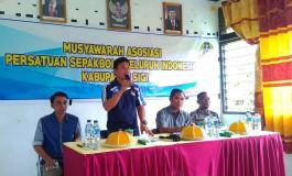 Musyawarah II, Mohammad Irwan Terpilih Ketua Asosiasi PSSI Kabupaten Sig i