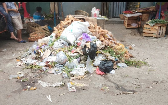Ternyata Begini Keadaan Sampah Di Pasar Kartasura