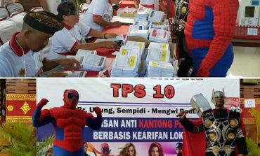 Begini Susasana Pemilu 2019  di Bali, Perantau Pulang Kampung Hingga Petugas Memakai Kostum Superhero