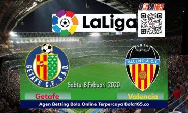 Prediksi Skor Valencia vs Getafe Di Laga LA Liga Pada Hari Sabtu, 8 Februari 2020