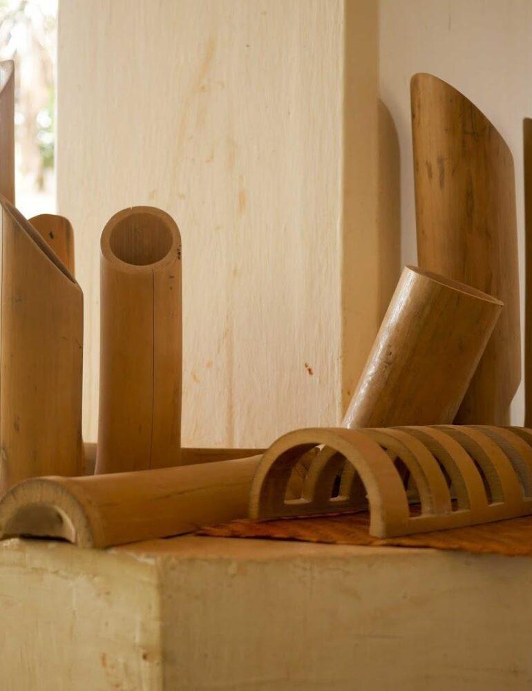 Contoh Kerajinan dari Bambu